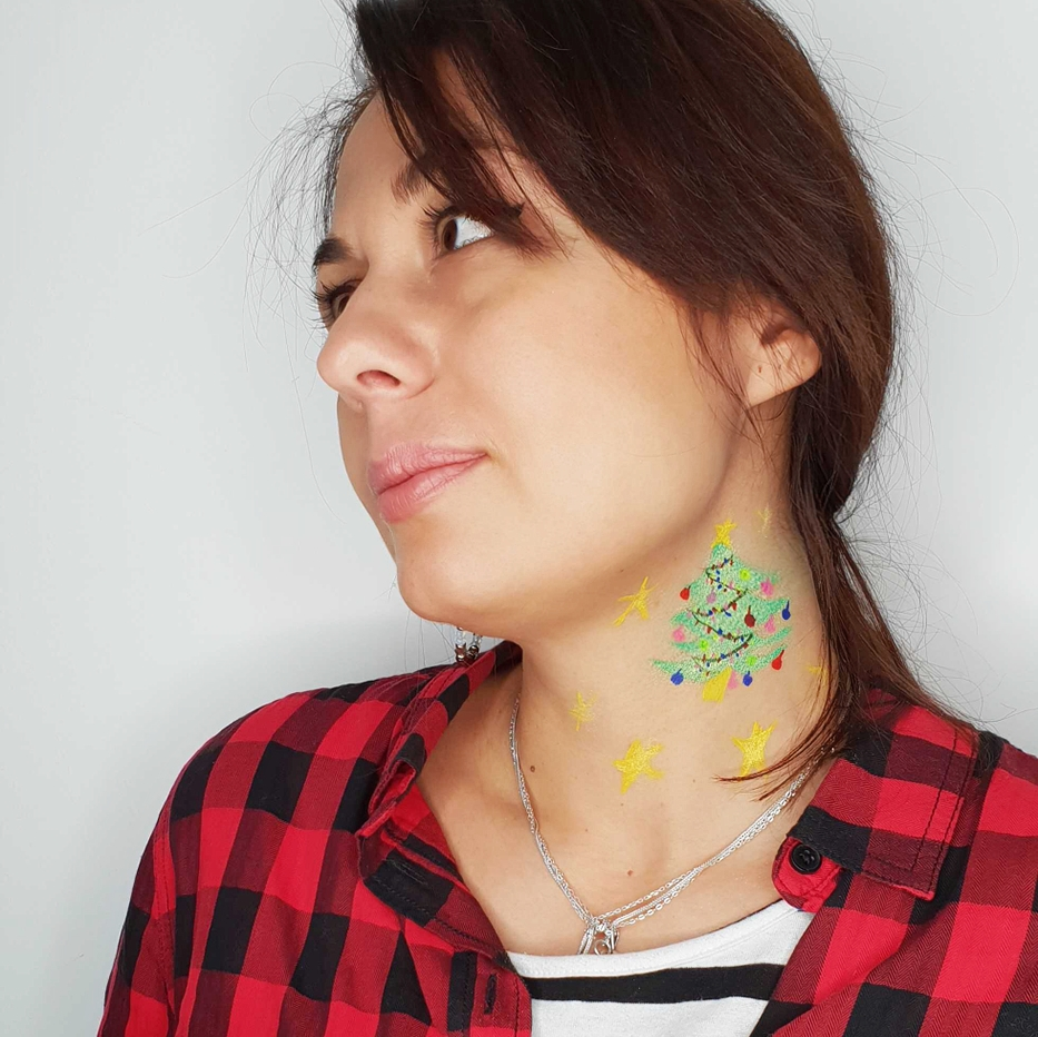 petrecere corporate craciun face painting machiaj